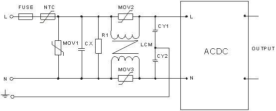 输入标称电压和输出额定负载时测得